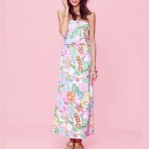 Lilly Pulitzer for Target Strapless Maxi Dress XS